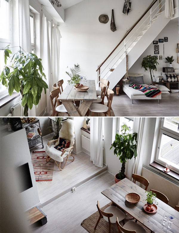 Amazing ethnic chic duplex apartment in Sweden | My Cosy Retreat