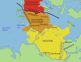 Slesvig-Holstein historic map