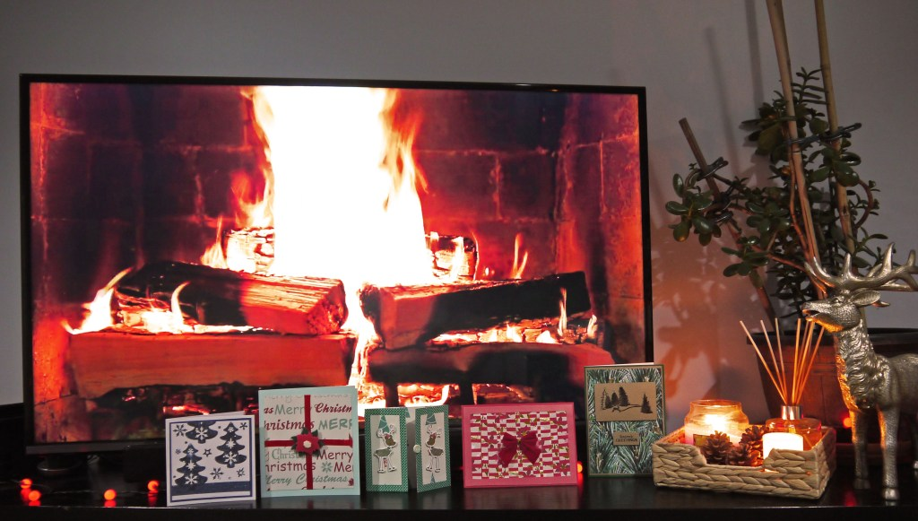 Wish we had real fire place, have to make do with TV one