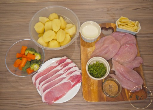 chicken wrapped in bacon - ingredients