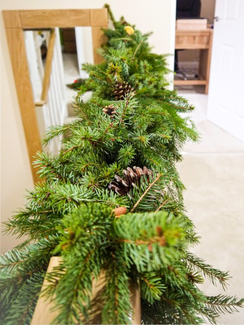 real evergreen garland - feature
