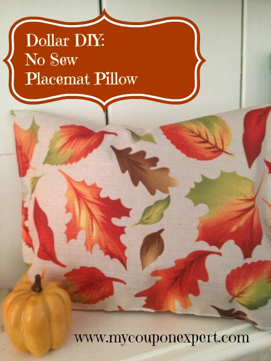 No Sew Placemat Pillow by My Coupon Expert