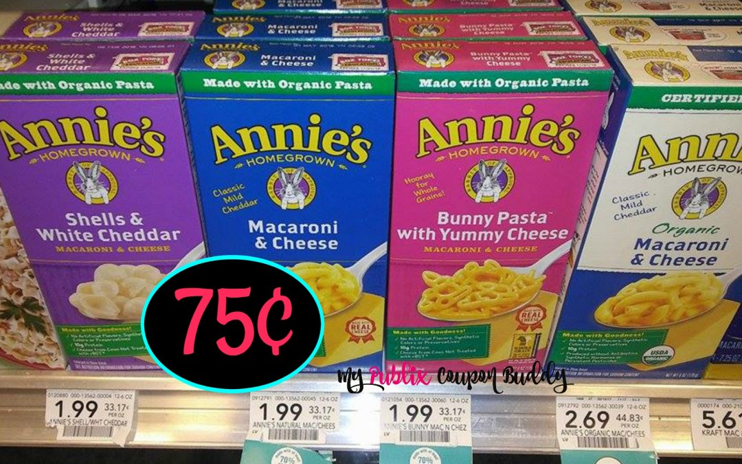 Annie's Mac & Cheese 75¢ at Publix
