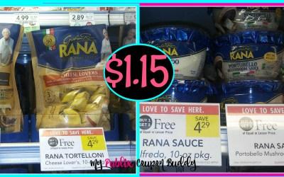 Rana Pasta or Sauce $1.15 at Publix