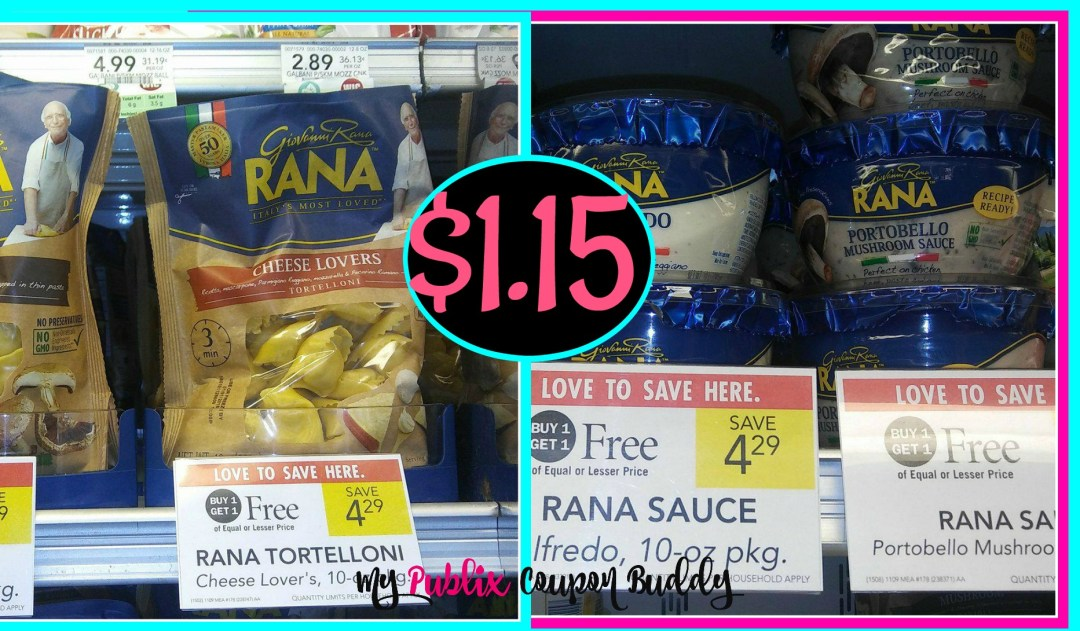 Rana Pasta and Sauce $1.15 at Publix