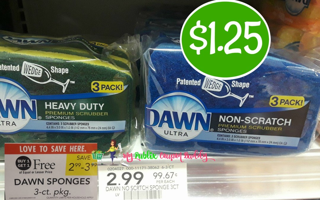 Dawn Sponges 3pk $1.25 at Publix