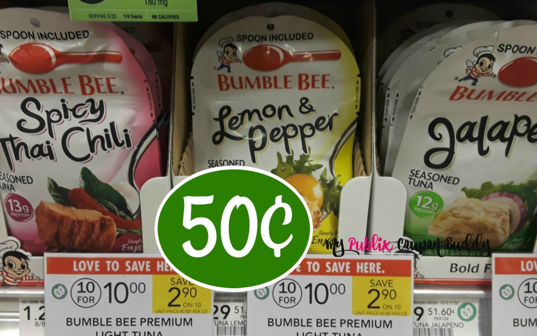 Bumble Bee Tuna Pouches 50¢ at Publix