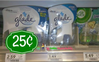 Glade Plug In Warmers 25¢ at Publix