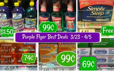 Publix Purple Flyer Best Deals 3/23 – 4/5