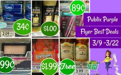 Publix Purple Flyer Best Deals 3/9 – 3/22
