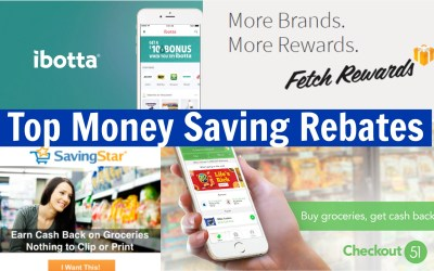 Top Money Saving Rebates – easy ways to earn extra cash back!