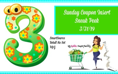 Sunday Coupon Insert Preview 3/31/19