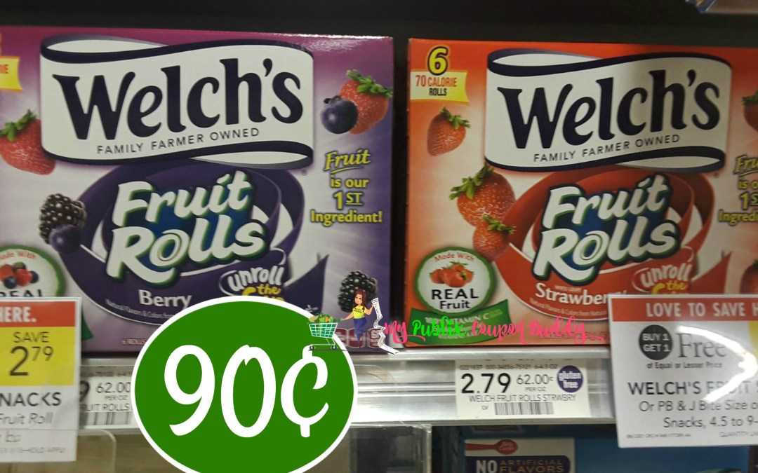 Welch's Fruit Snacks 90¢ at Publix