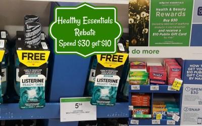 Healthy Essentials Rebate: Spend $30 Get $10