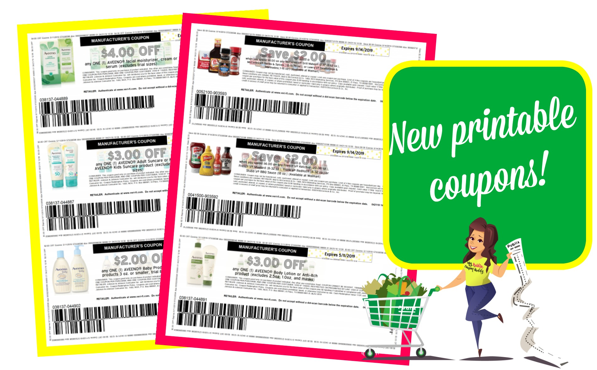 image regarding Aveeno Coupon Printable known as Wonderful fresh new printable discount coupons~ McCormick, Aveeno and even further