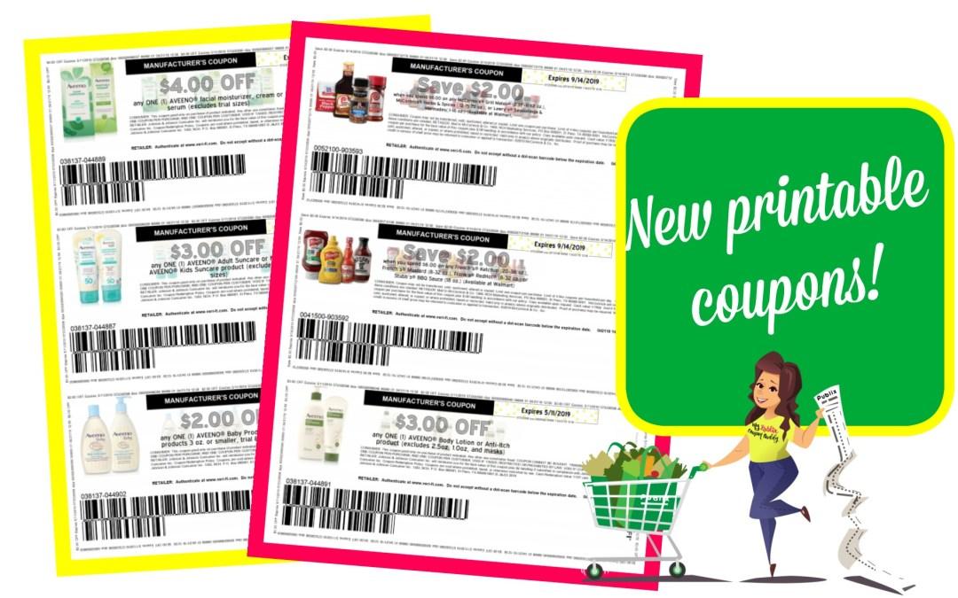 Awesome new printable coupons~ McCormick, Aveeno and more!