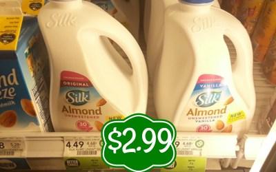 Silk Almondmilk 96 oz $2.99 at Publix