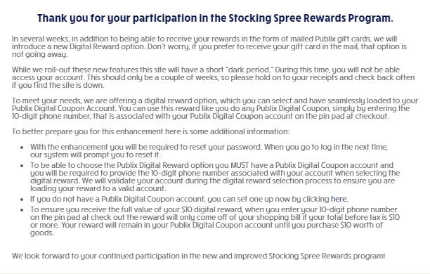Stocking Spree soon to include digital rewards! | My Publix