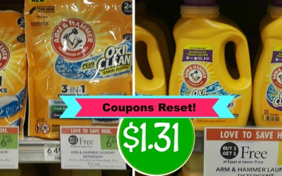 Coupons Reset! Arm & Hammer as low as $1.31 at Publix