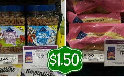 Blue Cat Food & Treats $1.50 at Publix
