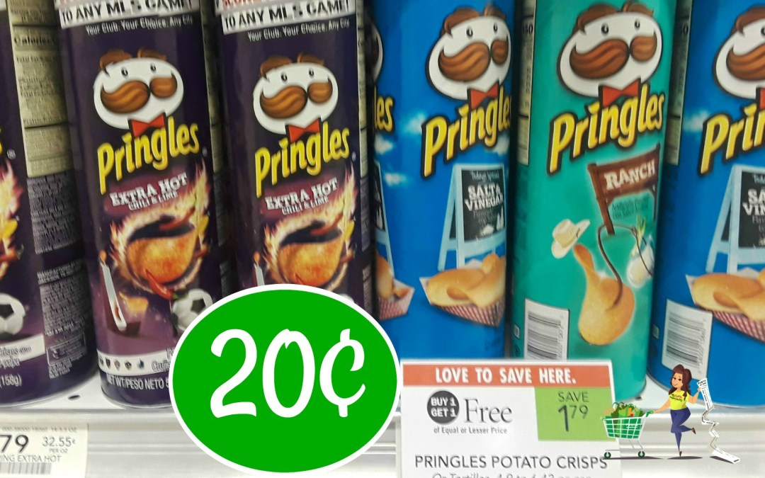 Pringles Wavy Potato Chips 20¢ at Publix (after coupons & Ibotta)