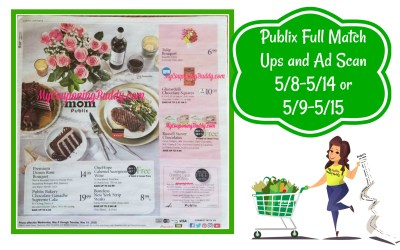 Publix Full Match Ups and Ad Scan 5/8-5/14 or 5/9-5/15