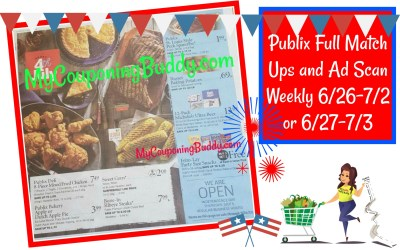 Publix Full Match Ups and Ad Scan Weekly 6/26-7/2 or 6/27-7/3