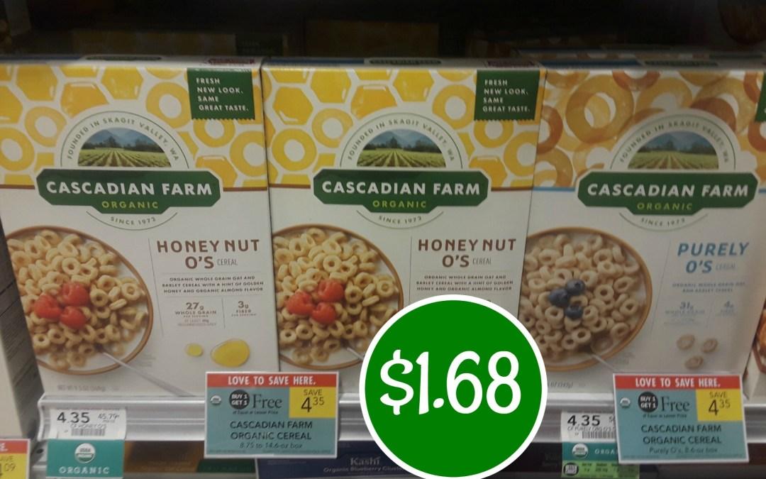 Cascadian Farms $1.68 at Publix