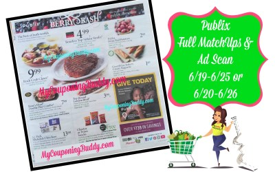 Publix Full MatchUps and Ad Scan Weekly Sale 6/19-6/25 or 6/20-6/26