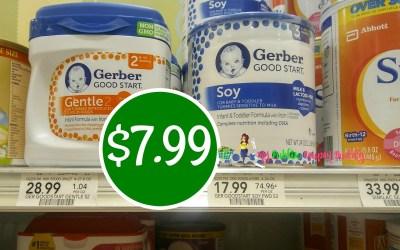 Gerber Good Start Baby Formula 24 oz $7.99 at Publix
