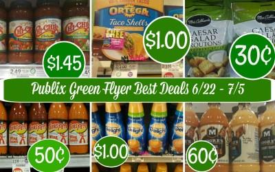 Publix Green Flyer Best Deals 6/22 – 7/5