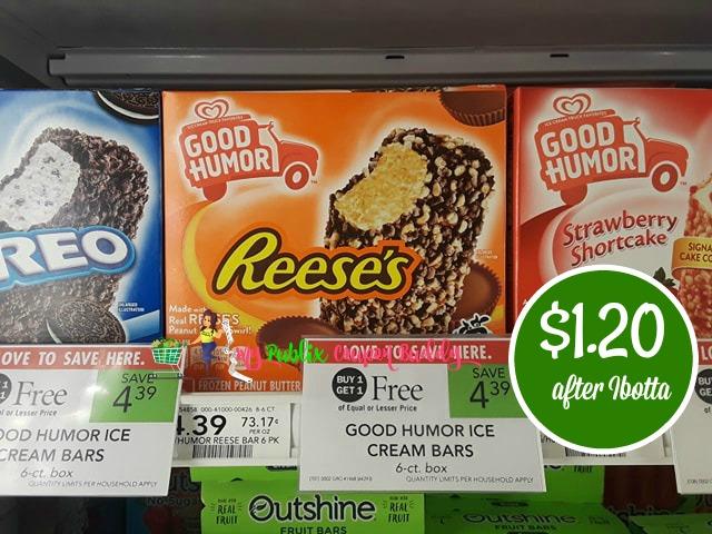 Good Humor Ice Cream Bars $1.20 after Ibotta rebate