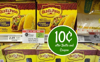Old El Paso Shells 10¢ after Ibotta and Coupon!