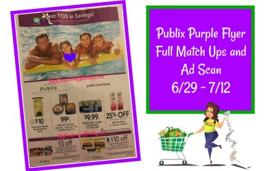 Publix Purple Flyer Full Match Ups and Ad Scan 6/29 – 7/12