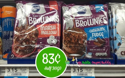 Pillsbury Place & Bake Brownies 83¢ at Publix