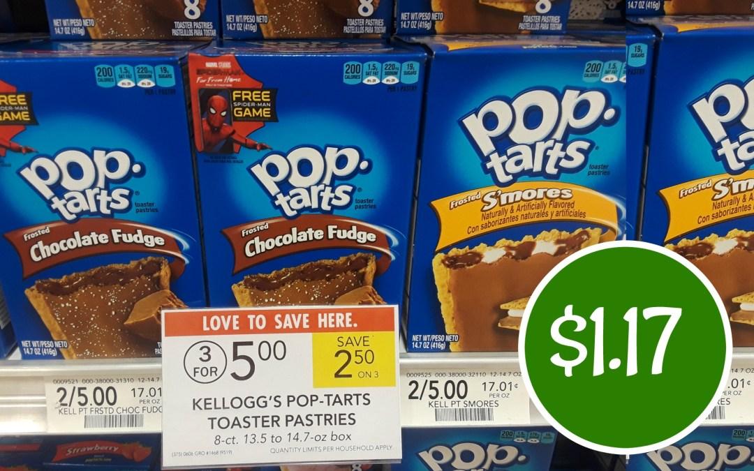 Kellogg's Pop Tarts $1.17 a box at Publix