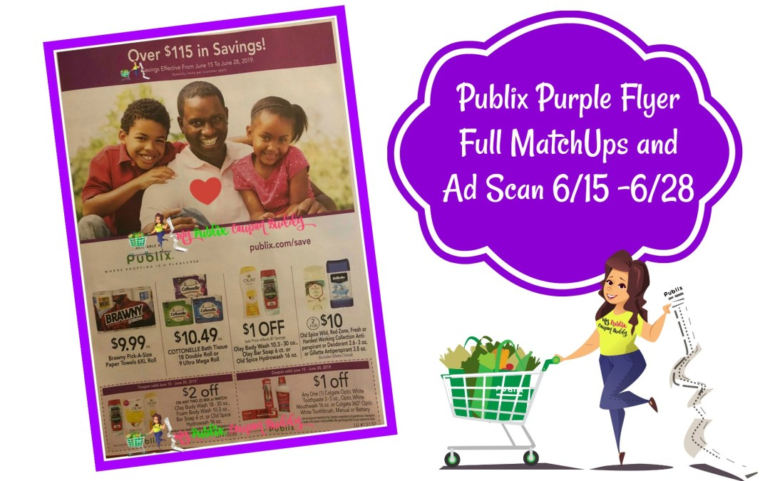 Publix Purple Flyer Full MatchUps and Ad Scan 6/15 -6/28