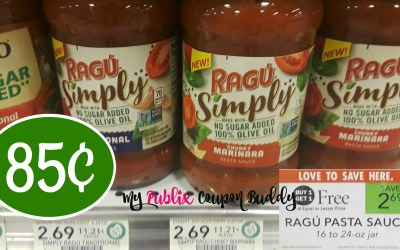 Ragu Sauce 85¢ at Publix