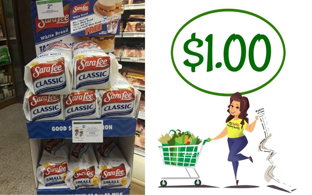 Sara Lee Bread $1.00 at Publix
