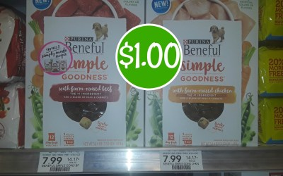Purina Beneful Simple Goodness Dog Food $1 at Publix