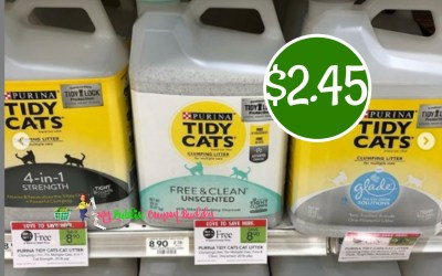 New Coupon ~ Stock up on Tidy Cats Litter just $2.45 at Publix