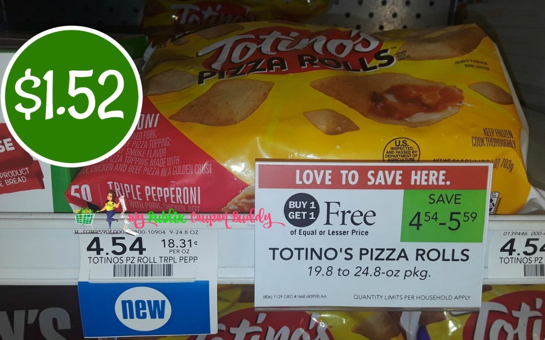 Totinos Pizza Rolls $1.52 at Publix