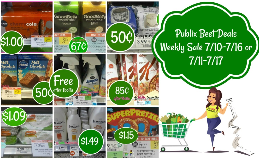 Publix Best Deals Weekly Sale 7/10-7/16 or 7/11-7/17