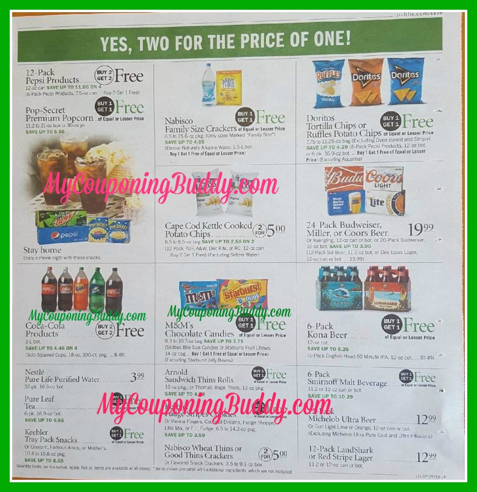 Publix Full Match Ups & Ad Scan Weekly Sale 7/24 – 7/30 or 7