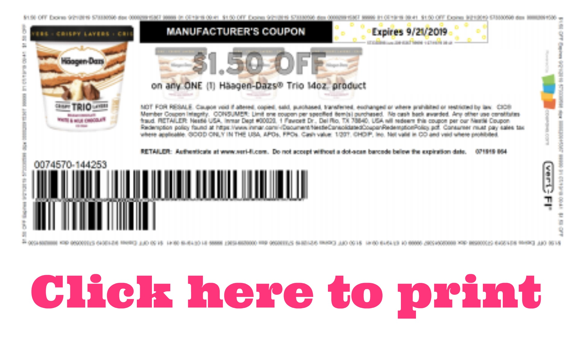 graphic relating to Haagen Dazs Printable Coupon referred to as Clean Häagen-Dazs Printable Coupon My Publix Coupon Pal