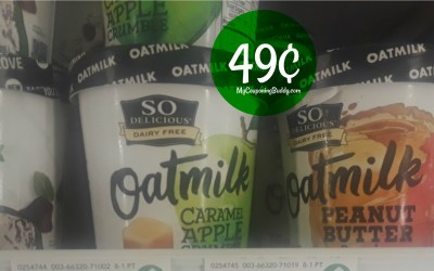 So Delicious OatMilk Dairy Free Ice Cream 49¢ at Publix ( after coupon & Ibotta)