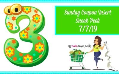 Sunday Coupon Insert Sneak Peek 7/7/19