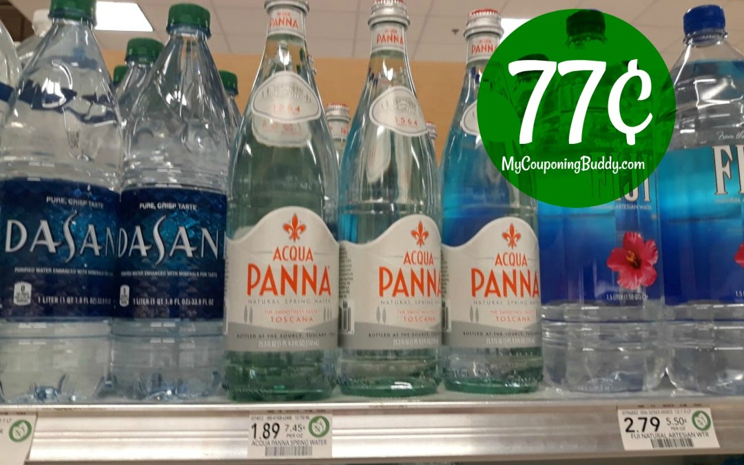 Acqua Panna Water 77¢ at Publix