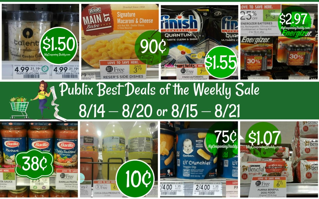 Publix Best Deals of the Weekly Sale 8/14 – 8/20 or 8/15 – 8/21