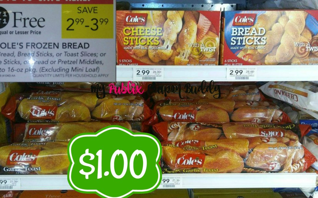 Cole's Garlic Bread $1 at Publix